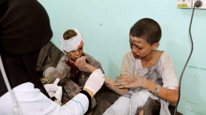 Unos 29 niños murieron y otros 30 resultaron heridos durante al ataque. (Reuters)