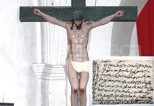 En el interior del Cristo Crucificado del Calvario de Antigua fue encontrado un texto que hacía referencia a una súplica de misericordia. (Foto: Hemeroteca PL)