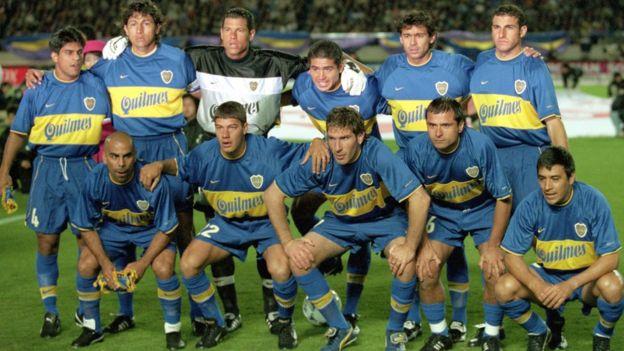 El once titular de Boca Juniors que conquistó la Copa Intercontinental al vencer 2-1 al Real Madrid. GETTY IMAGES