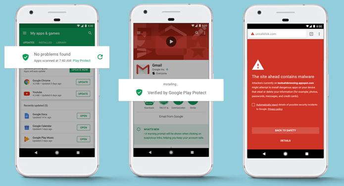 Play Protect analizará el dispositivo para erradicar amenazas de malware (Foto Prensa Libre: Guiding Tech).