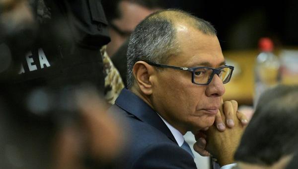 El vicepresidente de Ecuador, Jorge Glas, fue condenado en diciembre de 2017 a seis años de prisión por su participación en la trama de corrupción con Odebrecht. (Foto Prensa Libre: EFE)