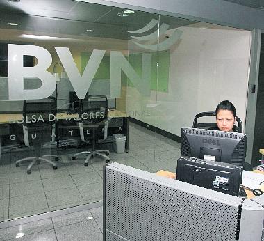 La Bolsa de Valores Nacional (BVN) es el ente que agrupa a las casas de bolsa en el país. (Foto, Prensa Libre: Hemeroteca PL)