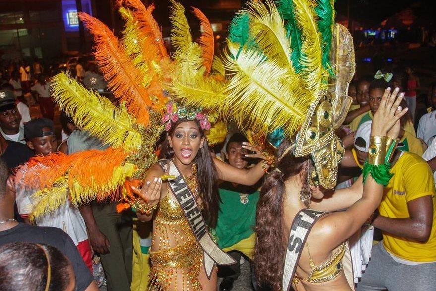 López desfila durante el concurso Miss Pacífico en Choco, Colombia. (Foto Prensa Libre: AFP).
