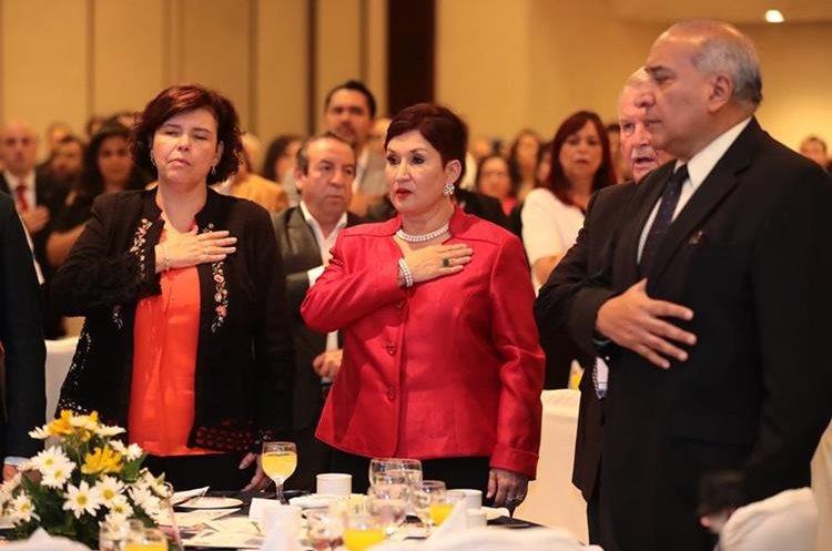 La exfiscal general durante su última actividad pública el 15 de mayo pasado. (Foto Prensa Libre: Hemeroteca PL)