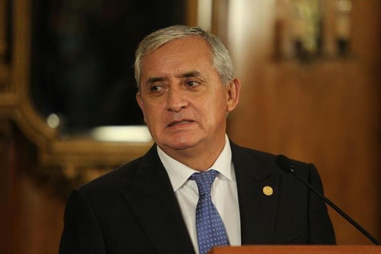 El MP pedirá a un Juzgado de Mayor Riesgo que Pérez Molina sea cesado de sus funciones como presidente. (Foto Prensa Libre: Hemeroteca PL)