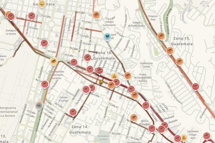 mapa de transito Tráiler descompuesto afecta tránsito en bulevar Los Próceres mapa de transito