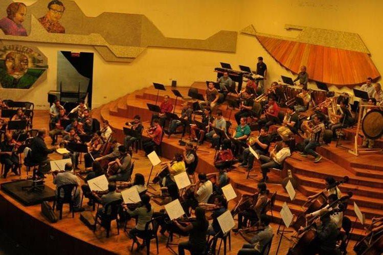 La Orquesta Sinfónica Nacional de Guatemala se presentará en la Gran Sala del Centro Cultural Miguel Ángel Asturias. (Foto Prensa Libre: Ana Lucía Ola)