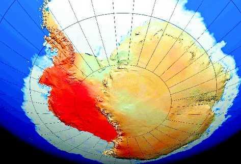 Una gran parte del continente de la Antartida helado se ha calentado a un ritmo de más de 0,1 grados por década en 50 años,(EFE)