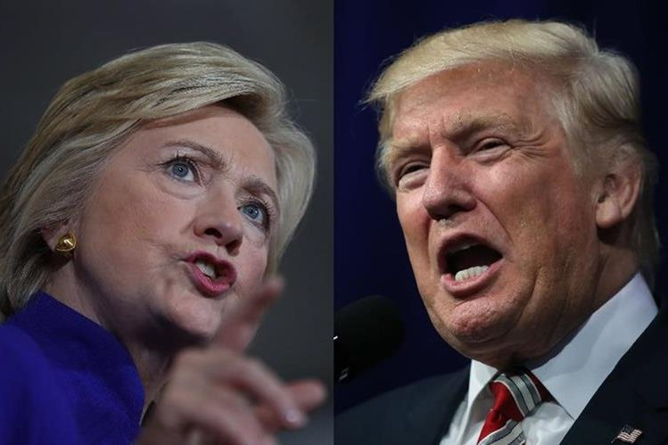 Hillary Clinton y Donald Trump se preparan para en el primer debate presidencial. (AFP).