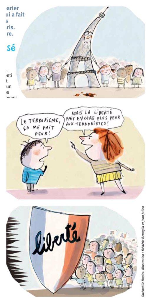 Revista infantil explioca los ataquesa París. (Foto Prensa Libre: Astrapi)