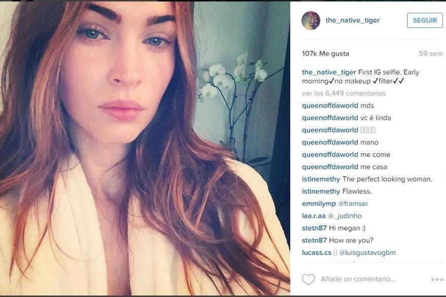 La sensual actriz Megan Fox se unió a la tedencia de moda de fotos sin maquillaje. (Foto Prensa Libre: Tomada de instagram/ the_native_tiger/).