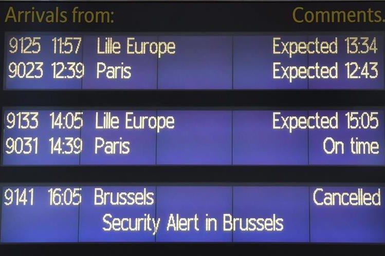 Después del atentado en el aeropuerto de Bruselas, este permanece cerrado. (Foto Prensa Libre: EFE)