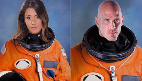 Eva Lovia y Johnny Sins serán los actores que filmen una película pornográfica en el espacio. (Foto Prensa Libre: Internet)