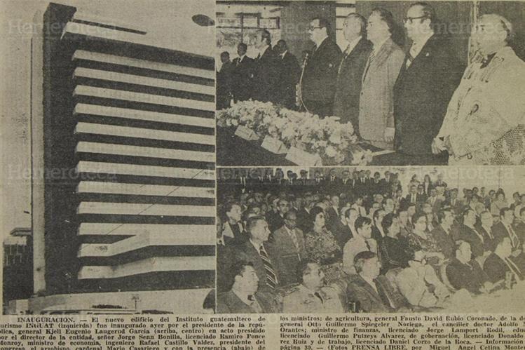 Inauguración del edificio del Instituto Guatemalteco de Turismo. (Foto: Hemeroteca PL)