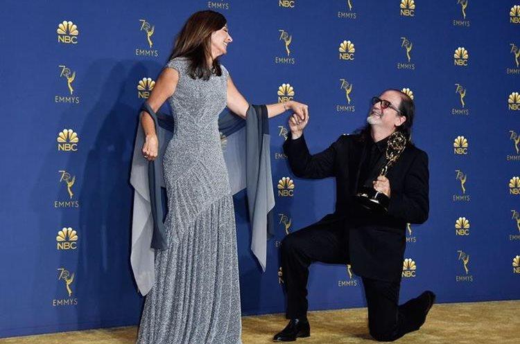 Glenn Weiss y su prometida Jan Svendsen (Foto Prensa Libre: AFP).