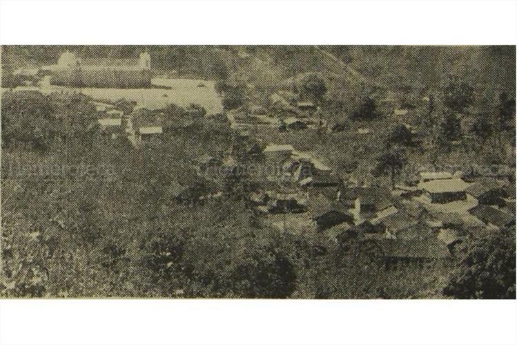 Santa Catarina Ixtahuacán, Sololá, ya se hundía en 1971. (Foto: Hemeroteca PL)