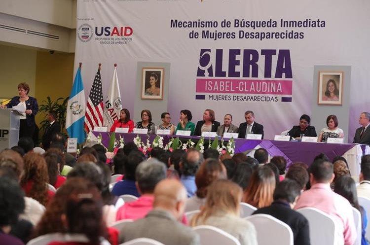 El Ministerio Público lanzó este miércoles la alerta Isabel-Claudina. (Foto Prensa Libre: Estuardo Paredes)