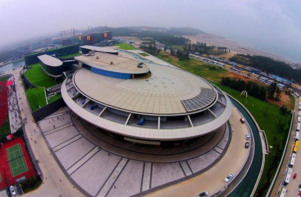 El edificio NetDragon Websoft en la provincia de Fujian, este de China. (Foto Prensa Libre: AFP)