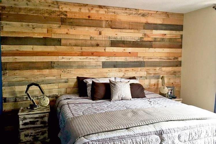 Tendencias que crean opciones para decorar - Decorar paredes con palets ...