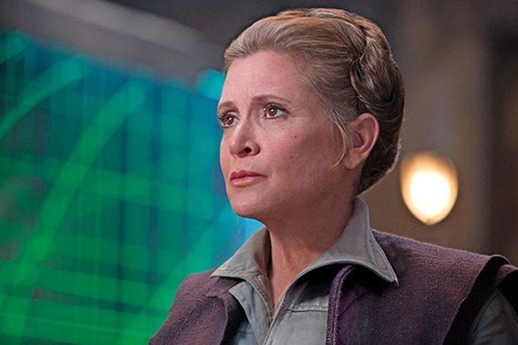 Carrie Fisher como la general Leia Organa, en el episodio VII de Star Wars (Foto Prensa Libre: archivo).