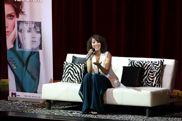 Previo al concierto, Gaby ofreció una conferencia de prensa y respondió preguntas sobre el disco Ilusión. (Foto Prensa Libre: Rolando Miranda).