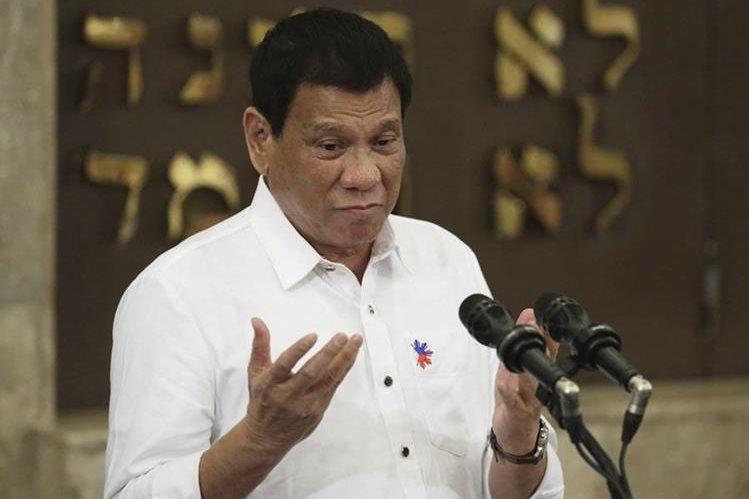 Rodrigo Duterte, presidente filipino, ha causado polémica por sus insultos. (Foto Prensa Libre: EFE)