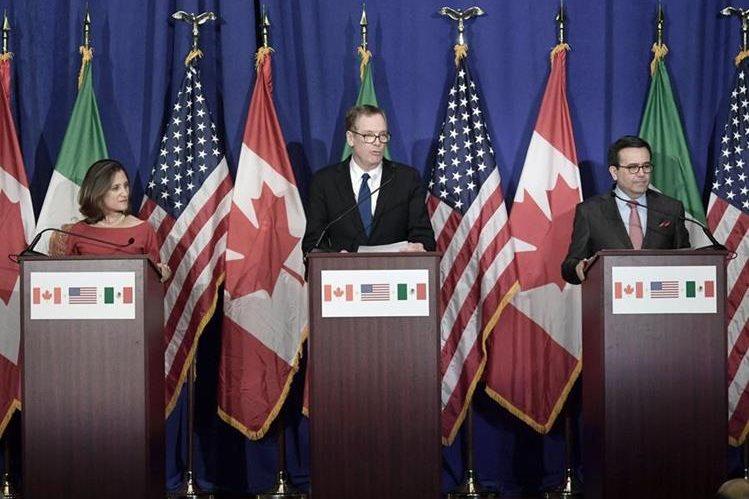 Condiciones de EE. UU. hacen peligrar el TLCAN. (Foto Prensa Libre: EFE)