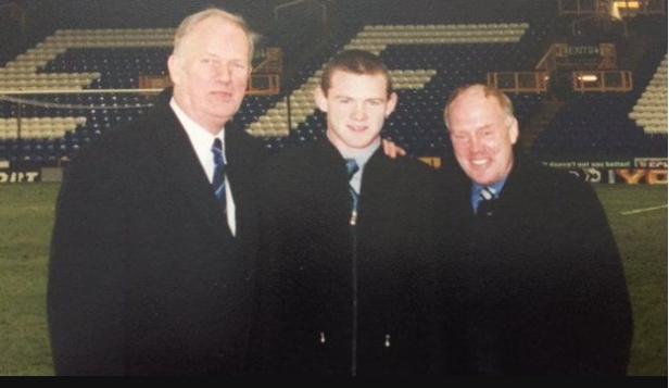 Bob Pendleton (izquierda) y Ray Hall (derecha) fueron quienes le abrieron la puerta a Rooney en Everton