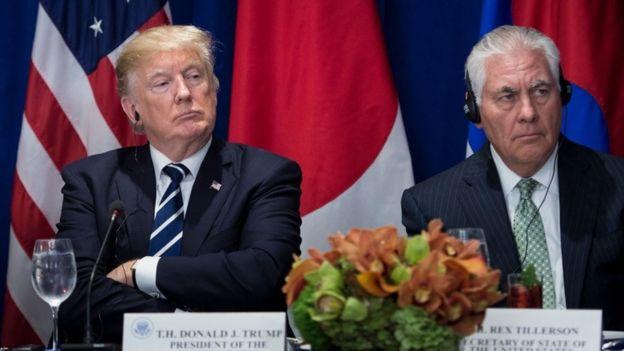 Trump desafió a Tillerson a revelar su cociente intelectual. AFP