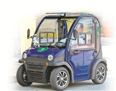 El auto básico tiene capacidad para dos personas, también los hay más grandes.