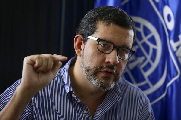Jorge Peraza,jefe de la misión de la OIM en el Triángulo Norte de Centroamérica.