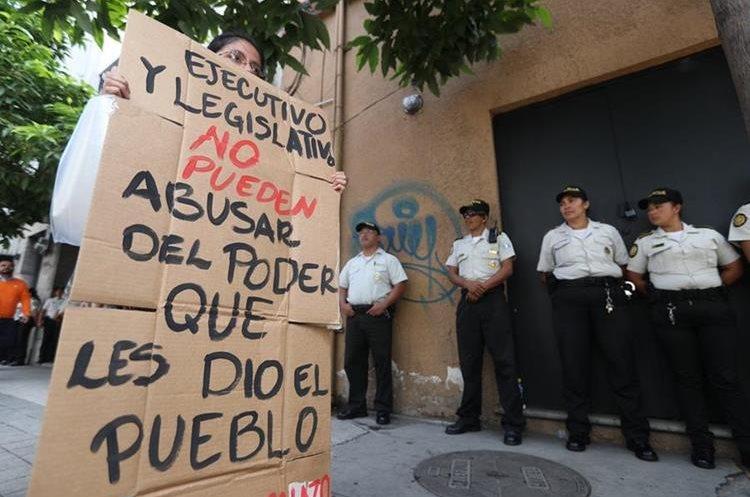Las reformas a la Ley de Antejuicios han llevado a varios sectores a protagonizar protestas. (Foto Prensa Libre: Hemeroteca PL)