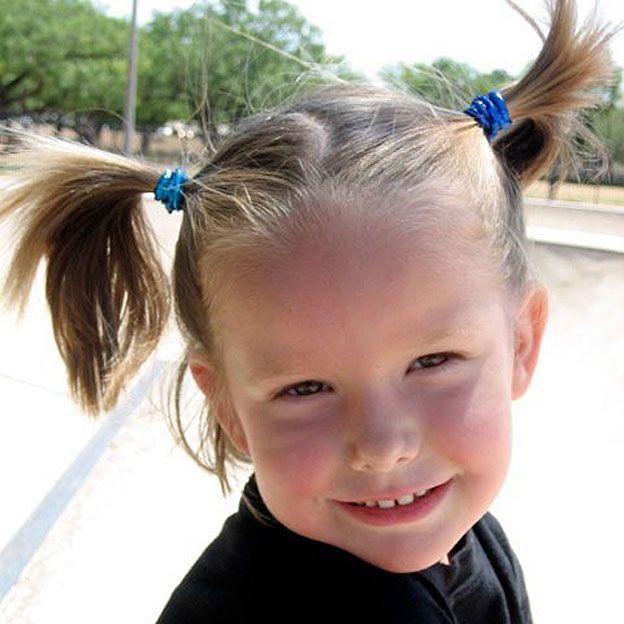 Ella, a los 4 años.
