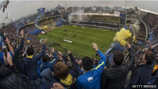 El último partido de la Bombonera fue el empate 1-1 contra Colombia en 1997. (Foto Prensa Libre: BBC Mundo)