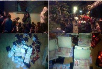 Las personas fueron encontradas en una casa en la cual se hallaron pasaportes y visas falsas. (Foto Prensa Libre: PNC)