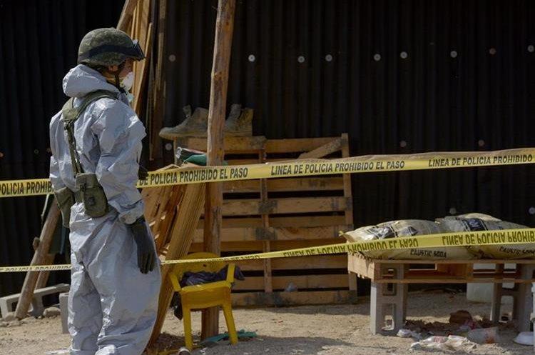 El pasado 14 de junio el ejército Mexicano desmanteló un laboratorio de droga en Culiacán, Sinaloa, México. (Foto Prensa Libre: EFE)