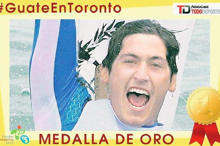 Maegli dio otra alegría para Guatemala este sábado en Toronto. (Foto Prensa Libre: TodoDeportes)