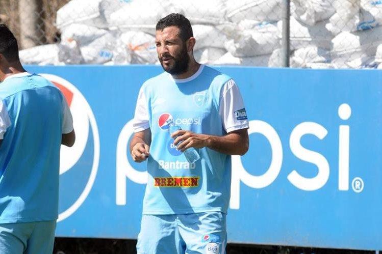 Hamilton López se entrenó con la Selección Nacional, este martes en el Proyecto Goal. (Foto Prensa Libre: Francisco Sánchez).