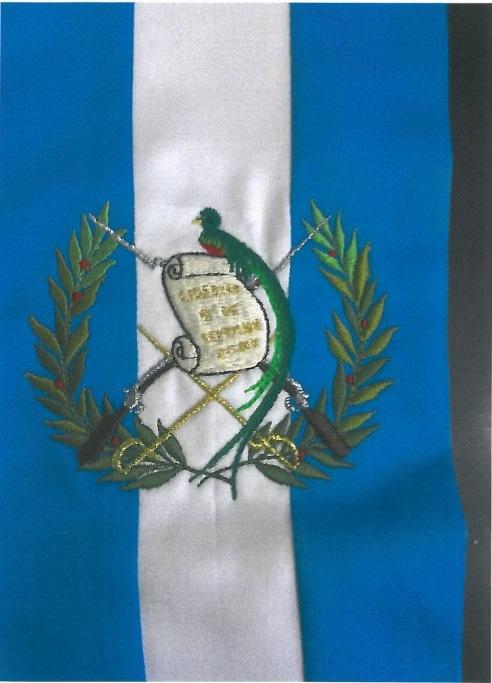 De esta forma debe elaborarse la banda presidencial que cotiza el Ministerio de Relaciones Exteriores. (Foto Prensa Libre: Guatecompras)
