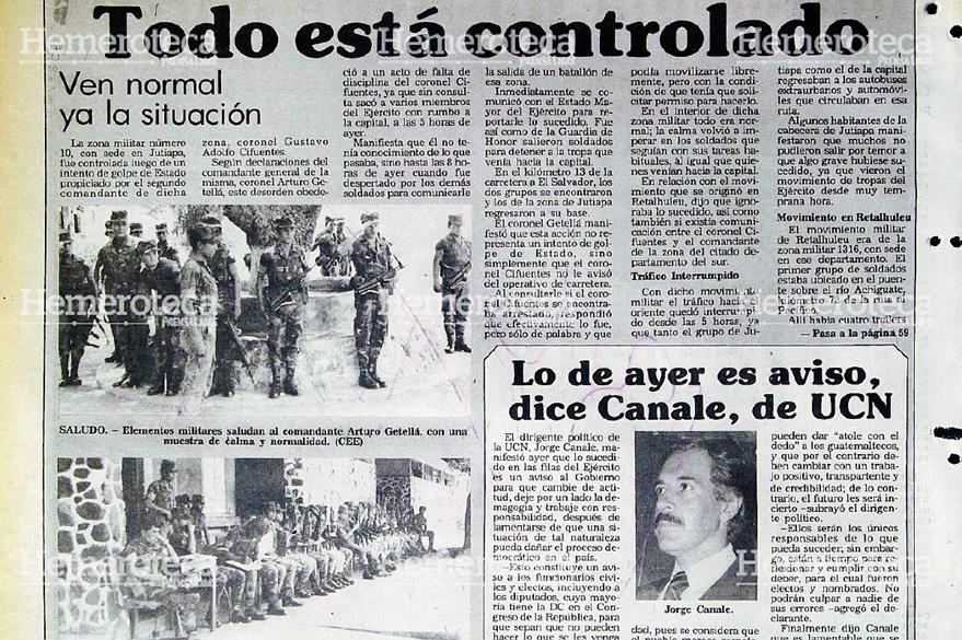 Nota de la situación en las zonas militares que se levantaron el 11 de mayo de 1988. (Foto: Hemeroteca PL)