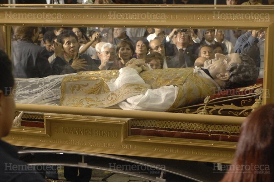 Las reliquias de Don Bosco llegaron a Guatemala en 2010. (Foto: Hemeroteca PL)