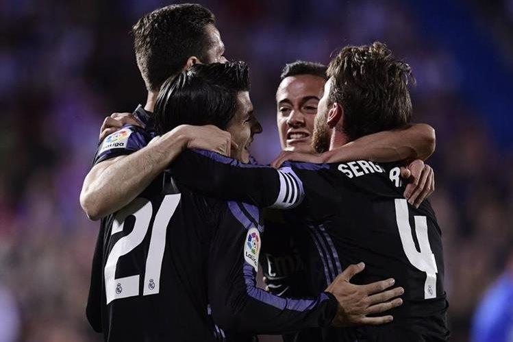 Álvaro Morata celebró en dos oportunidades en el duelo frente al Leganés. (Foto Prensa Libre: AFP)