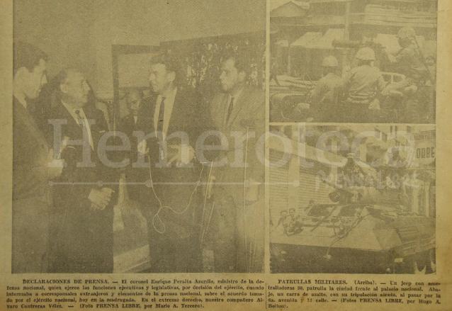 Enrique Peralta Azurdia, en conferencia de prensa en 1963. (Foto: Hemeroteca PL)