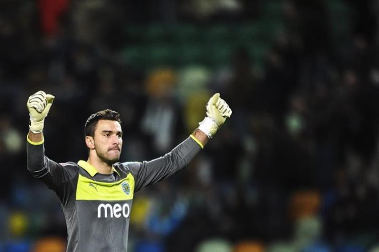 El meta Rui Patricio cumple ena década de defender la portería del Sporting de Portugal. (Foto Prensa Libre: Hemeroteca)