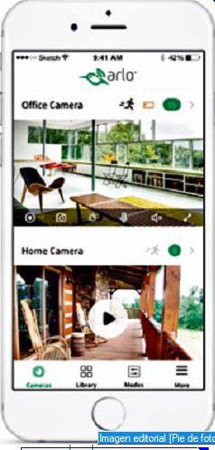 El usuario puede controlar hasta 15 cámaras Arlo Q desde una app, además de enviar y recibir audios.  (Foto Prensa Libre: Hemeroteca PL).
