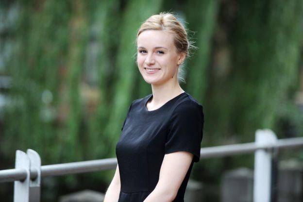 Amber Westmoreland se está formando para ser contadora oficial.CAVENDISH PRESS