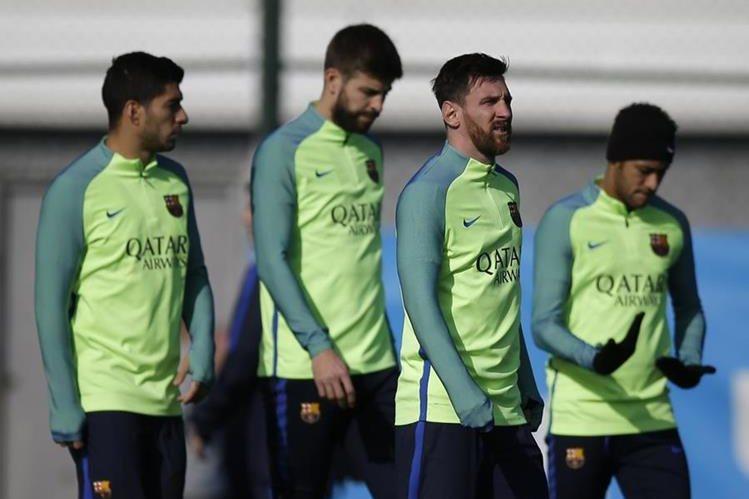 El Barcelona viene de vencer 1-2 al Atlético de Madrid en el juego de ida de las semifinales de la Copa del Rey. (Foto Prensa Libre: AFP)