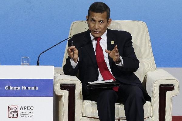<p>El presidente de Perú, Ollanta Humala, durante su participación en el foro de Cooperación Económica Asia-Pacífico que se efectúa en China.</p>