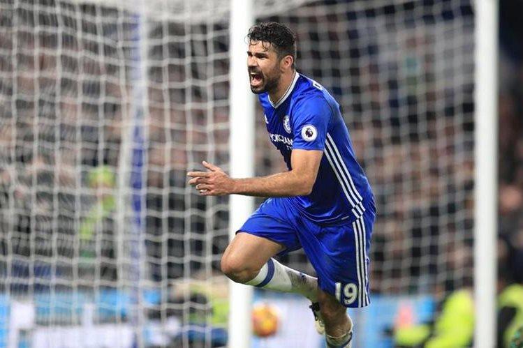 Diego Costa ha marcado 14 goles con el Chelsea durante la presente temporada. (Foto Prensa Libre: EFE).