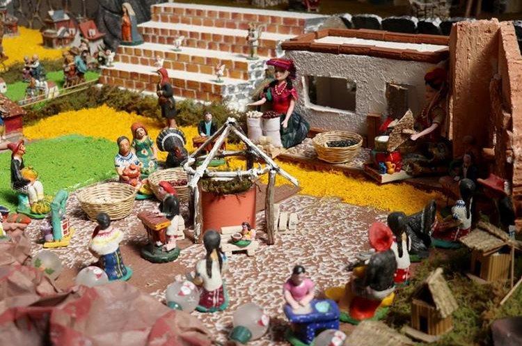 En el nacimiento destaca una de las plazas de Huehuetenango. (Foto Prensa Libre: Mike Castillo)